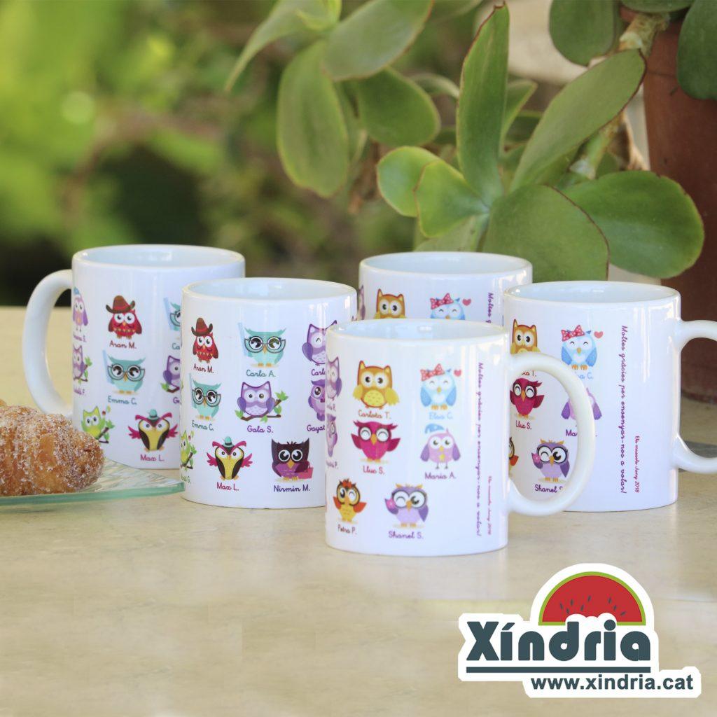 Tasses personalitzades mestres XindriaCat