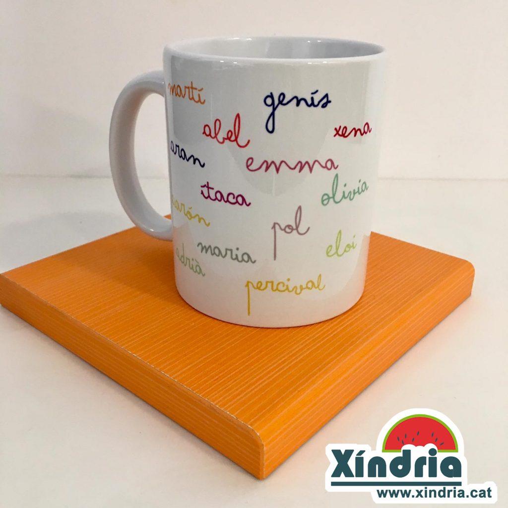 Tassa personalitzada noms alumnes XindriaCat