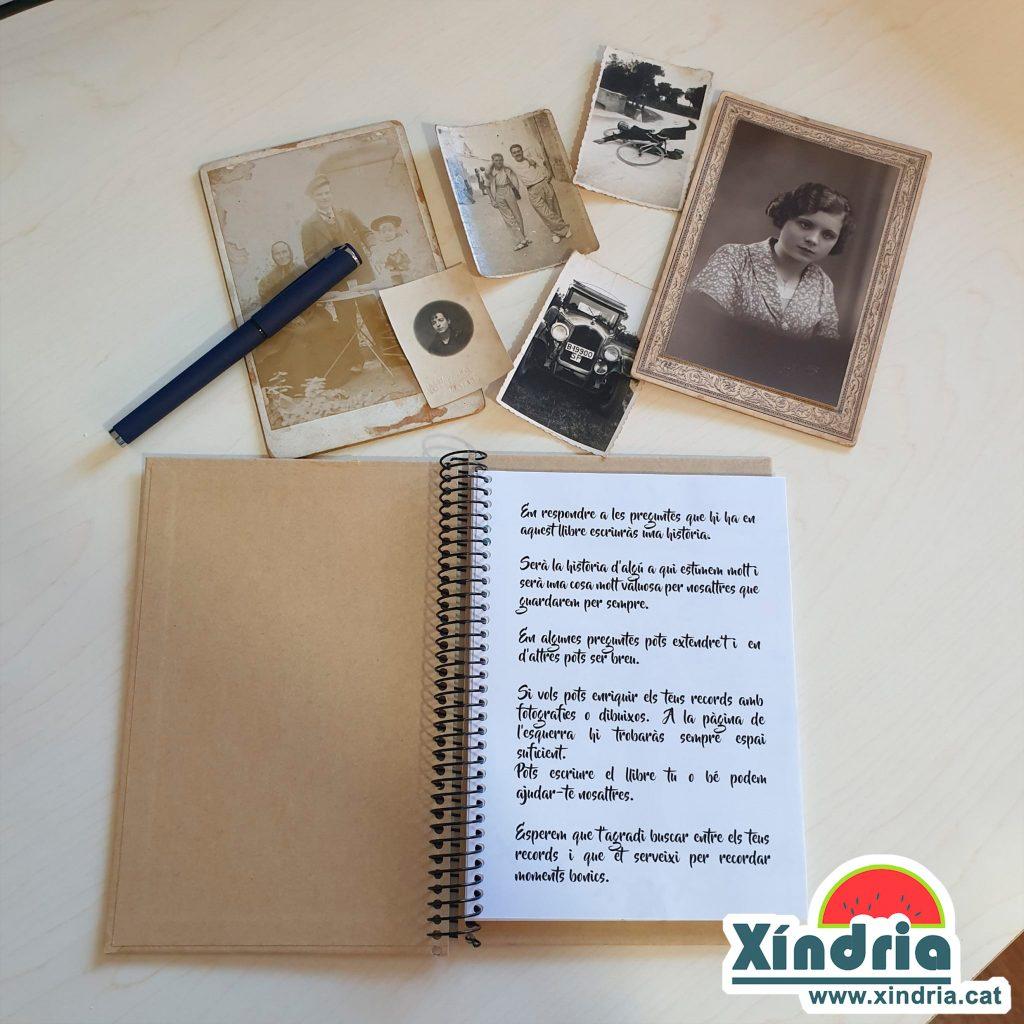 Llibreta de records per regalar als avis i àvies.