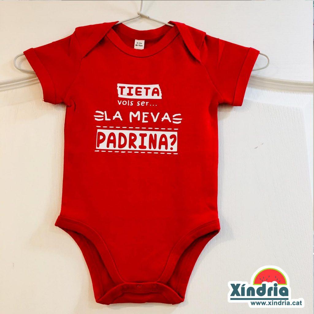 Regals per padrins i padrines. Detalls per padrins. Body personalitzat per regalar al padrí i la padrina. Regals nadons nonats.