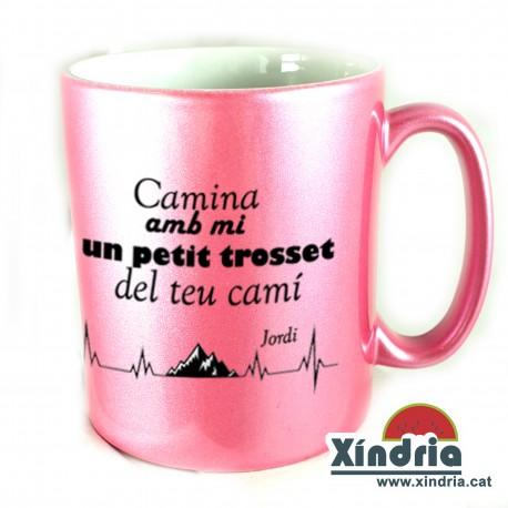TASSA METAL·LITZADA CAMINA AMB MI